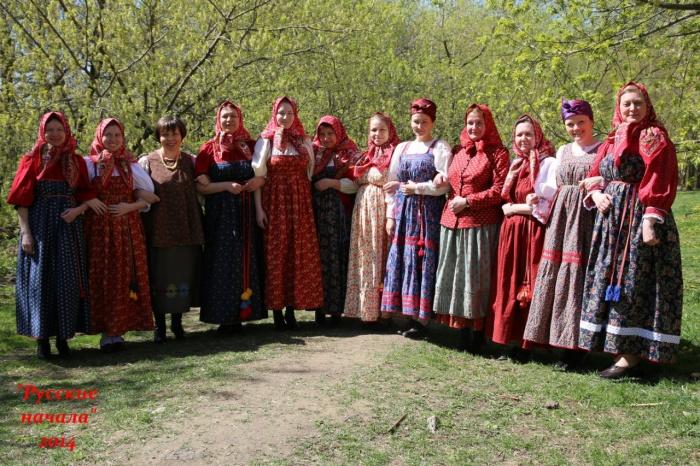 Вышивка русского традиционного костюма